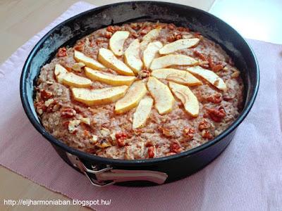 almás, vegán, akrácsonyi, tejmentes, tojásmentes, egészséges, diós, fahéjas, fűszeres, torta, karácsony, recept, vegetáriánus