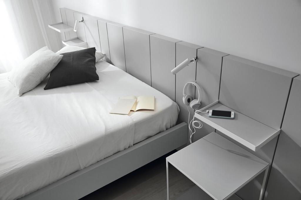 sypialnia w minimalistycznym stylu