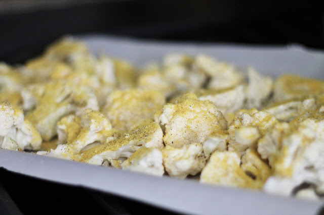 Cheesy Roasted Cauliflower via @labride