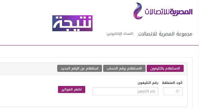 الاستعلام عن فاتورة التليفون الارضي شهر أبريل 2018 موقع المصرية للاتصالات