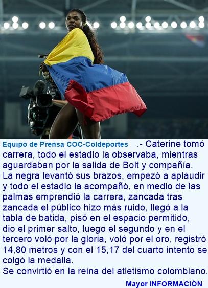 Oro para Colombia: Ibarguen gana la prueba de salto triple en Rio 2016
