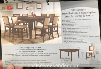 Pulaski Counter Height Dining Set: stylish and modern looking