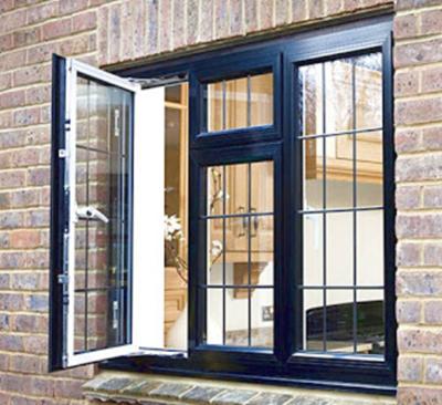 jendela minimalis warna hitam