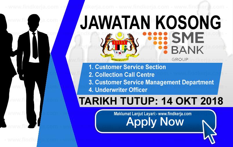 Jawatan Kerja Kosong SME Bank Group logo www.ohjob.info www.findkerja.com oktober 2018
