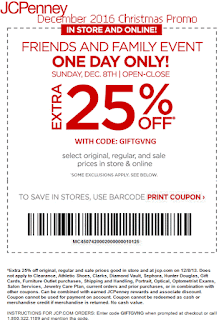 JcPenney coupons for december 2016