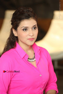 Actress Mannar Chopra in Pink Top and Blue Skirt at Rogue movie Interview  0185.JPG