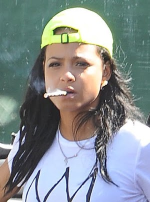 Here, Christina Milian lets off steam off neatly