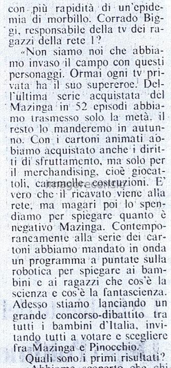 """Imago Recensio: """"I genitori di Imola VS Goldrake e Mazinga ..."""