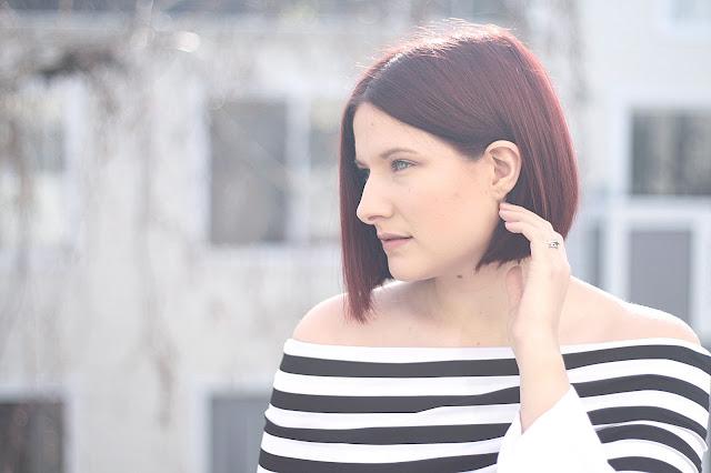 shein, black and white stripe, shirt, womenswear, fashion blogger