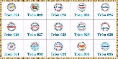 mẫu tem bảo hành hình tròn