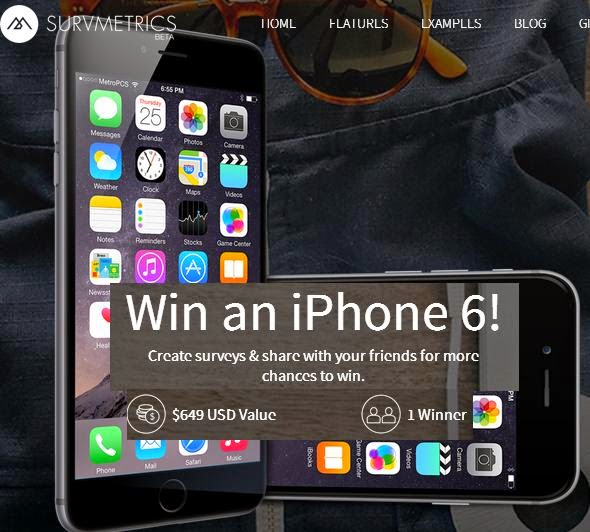 Survmetrics, Win an iPhone 6 (16GB)