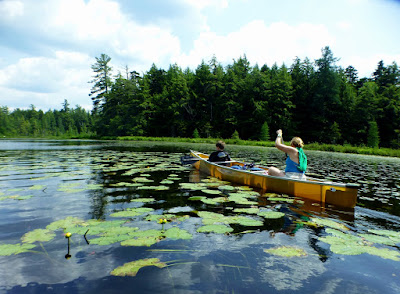 Canoe camping on Follensby Clear Pond, 06/26/2016.  The Saratoga Skier and Hiker, first-hand accounts of adventures in the Adirondacks and beyond, and Gore Mountain ski blog.
