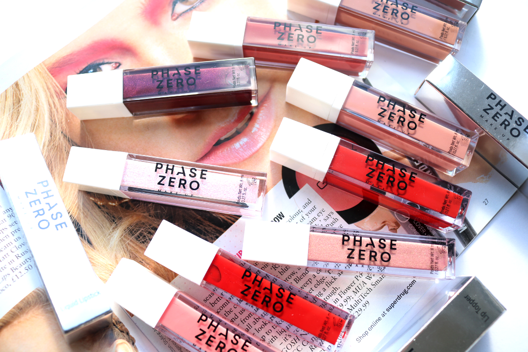 Phase Zero Liquid Lipsticks, Lip Glosses & Lip Toppers - Review & Swatches
