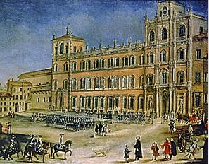 An 18th century print of the Palazzo Ducale (Ducal Palace)