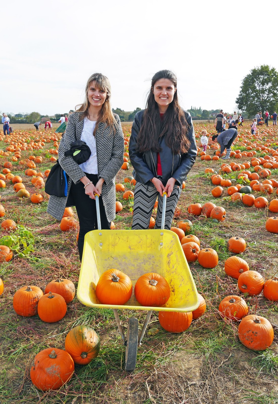 Kat Last and Steph at Pick Your Own Pumpkin in Sevington, Ashford