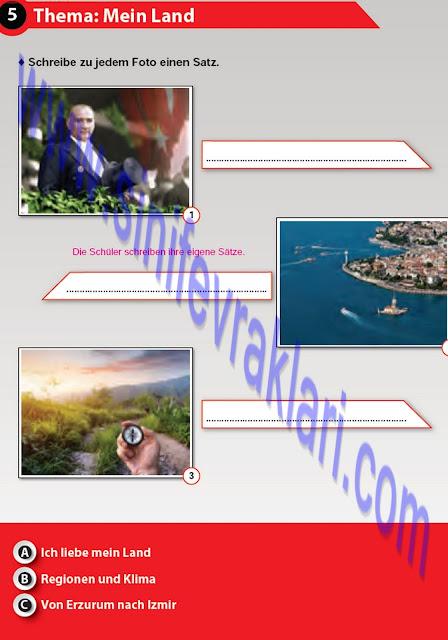 Almanca A1.2 Çıpa Yayınları Çalışma Kitabı Cevapları Sayfa 53