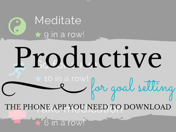 Goal Setting Tip of the Month: Productive (The App, That Is)