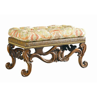 carved wood traditional ottoman