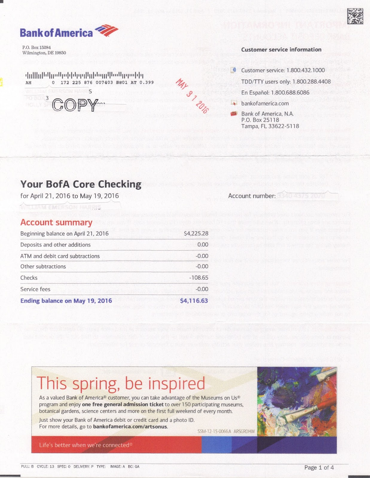 bank of america customer service hours