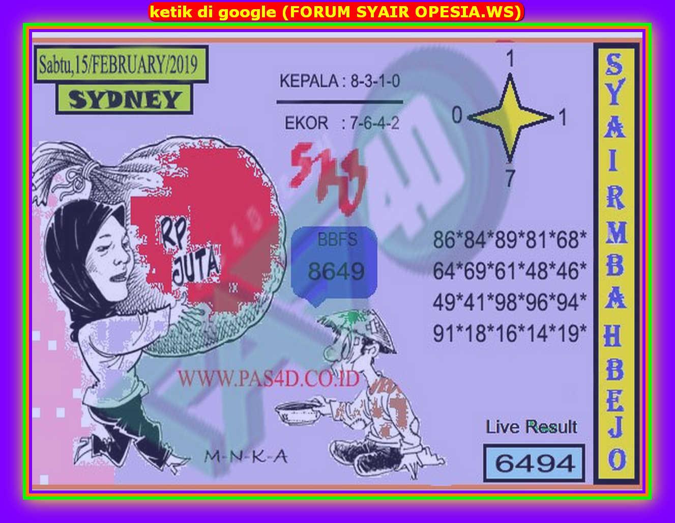 Kode syair Sydney Sabtu 15 Februari 2020 47