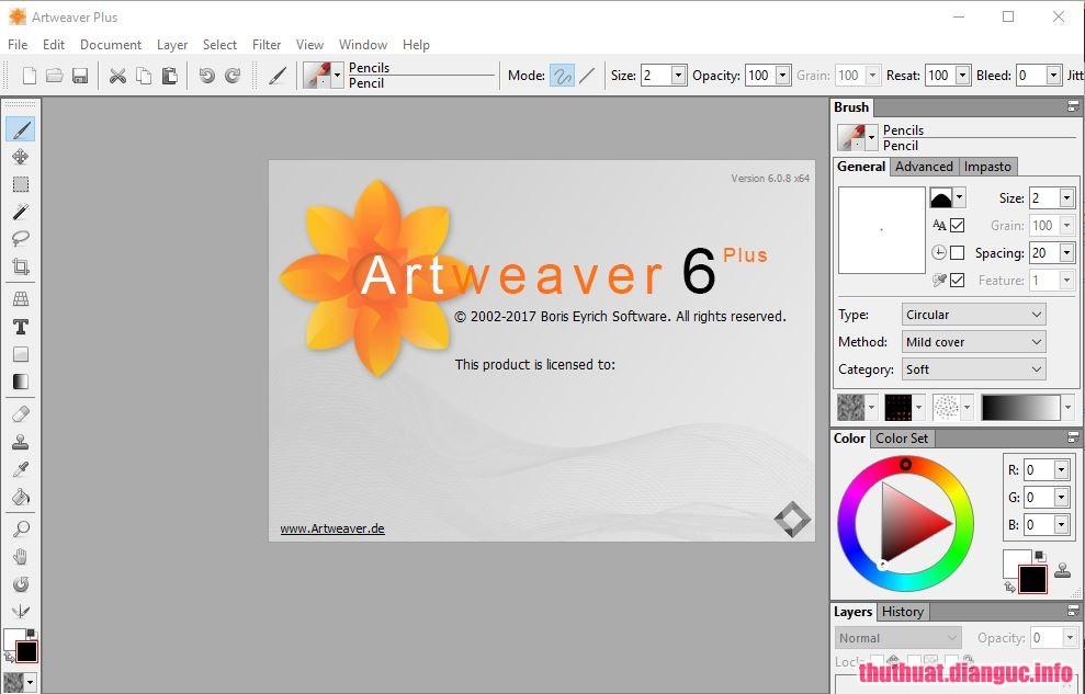 Download Artweaver Plus 6.0.11.15126 Full Crack, phần mềm biên tập ảnh dễ sử dụng, Artweaver Plus, Artweaver Plus free download, Artweaver Plus full key