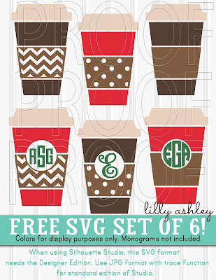 free cut file coffee cups
