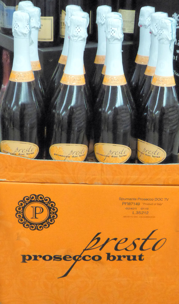 Musical terms in the marketplace - Presto Proseco Brut