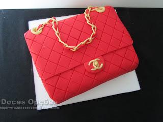 bolo Mala Chanel bragança doces opções