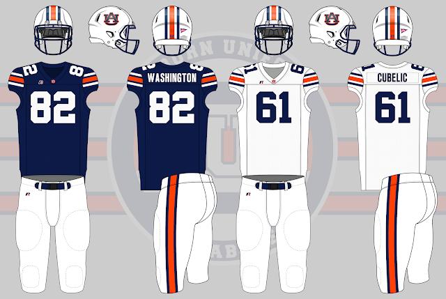 auburn football 1999 uniform
