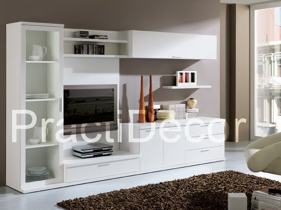 Ideas de modelos de amoblamientos modulares para sala tv audio for Modelos de muebles modernos para living