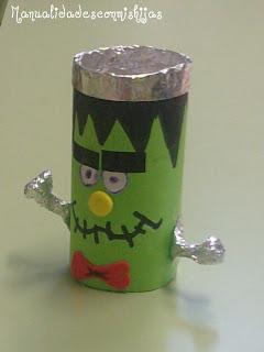 Frankenstein con tubo de cartón
