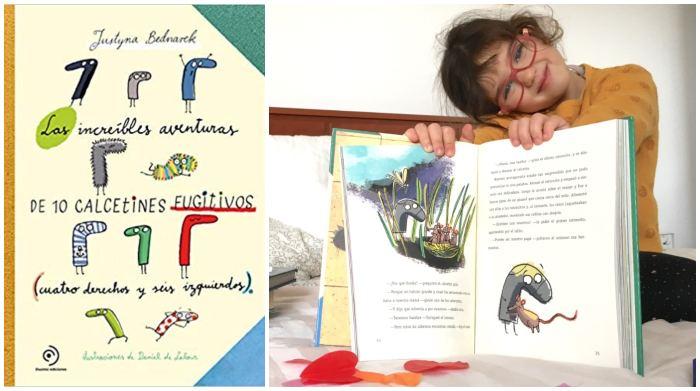 libro infantil juvenil Las increíbles aventuras de 10 calcetines fugitivos