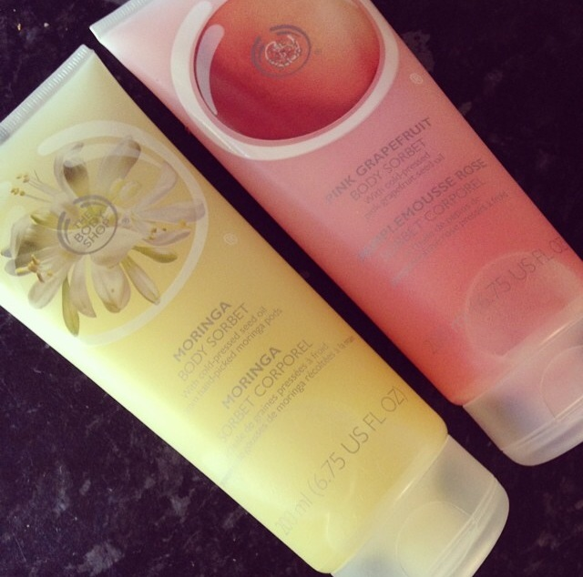 The Body Shop body sorbets