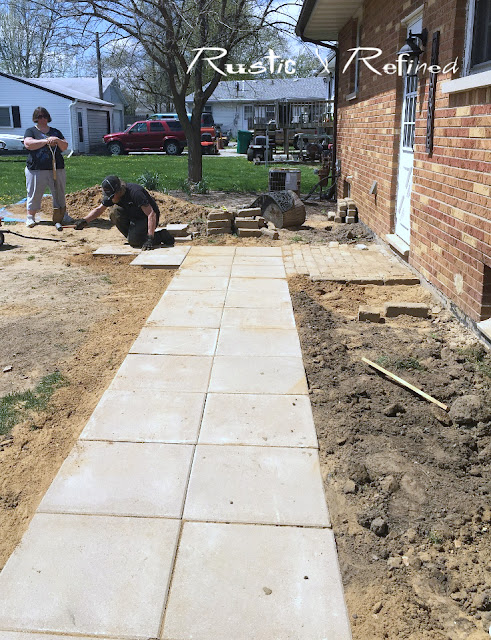 diy project you can do in one or 2 days, adding a new sidewalk