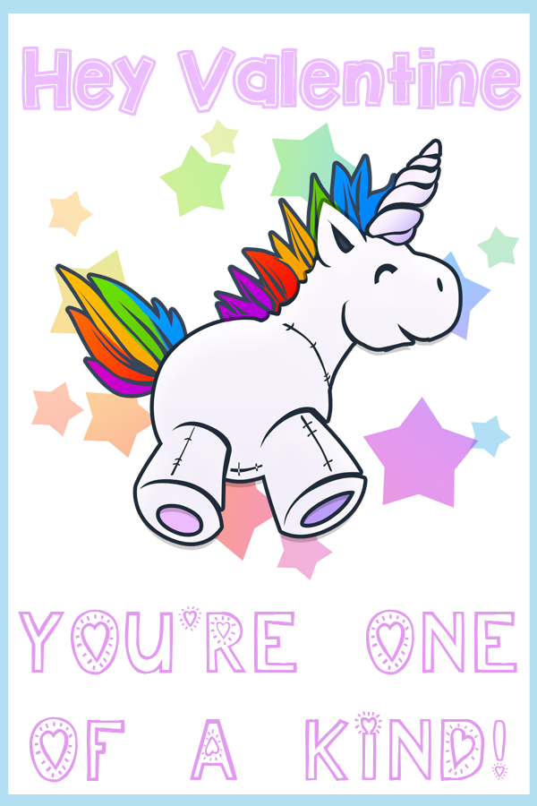 It is a graphic of Slobbery Free Printable Unicorn Valentines
