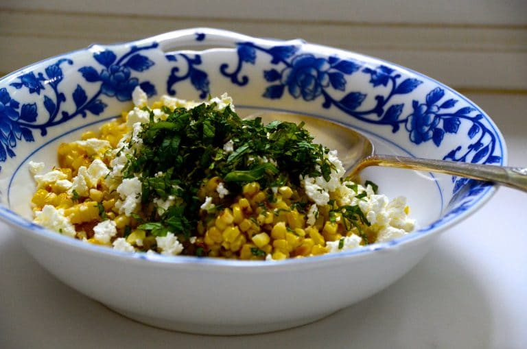Corn Salad ingredients