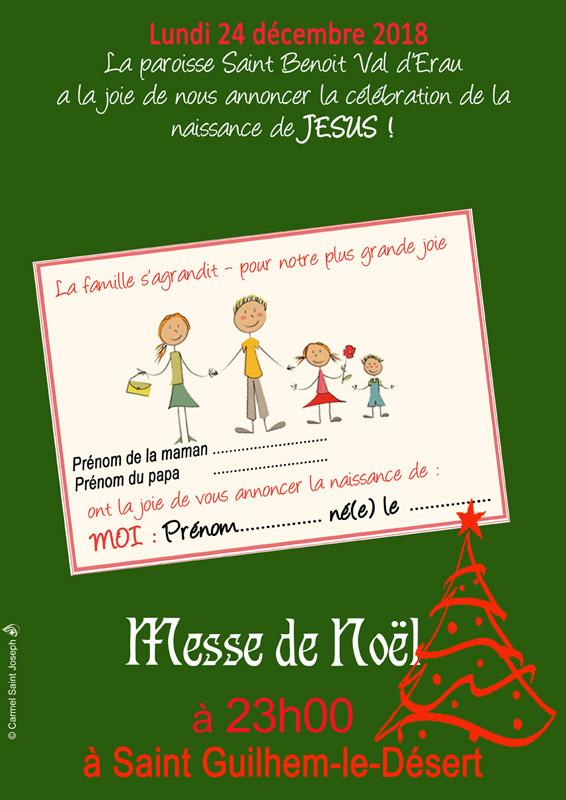 Affiche messe Noël