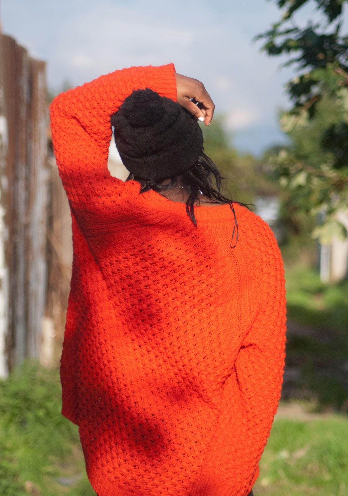 H&M Orange Jumper