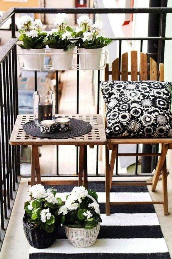 Balcones pequeños decorados