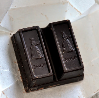 Square of Semisweet Baking Chocolate - Photo by Michelle Judd of Taste As You GoSquare of Semisweet Baking Chocolate - Photo by Michelle Judd of Taste As You Go