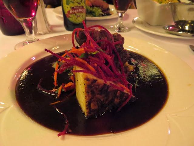 Lamb dish served at Paafuglen in Tivoli in Copenhagen