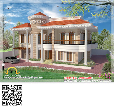 Middle East Style Duplex House Design - 348 Square Meter (3750 Sq. Ft.) - November 2011