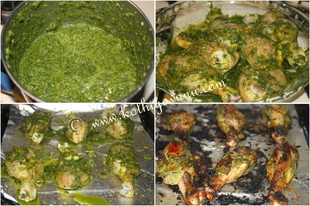 Baked Chicken Drumstick With Fresh Herbs Kerala Style