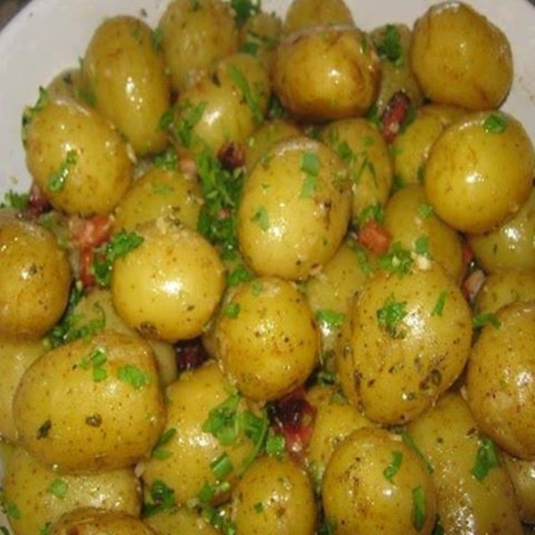 MINI BATATAS COM BACON DELICIOSAS