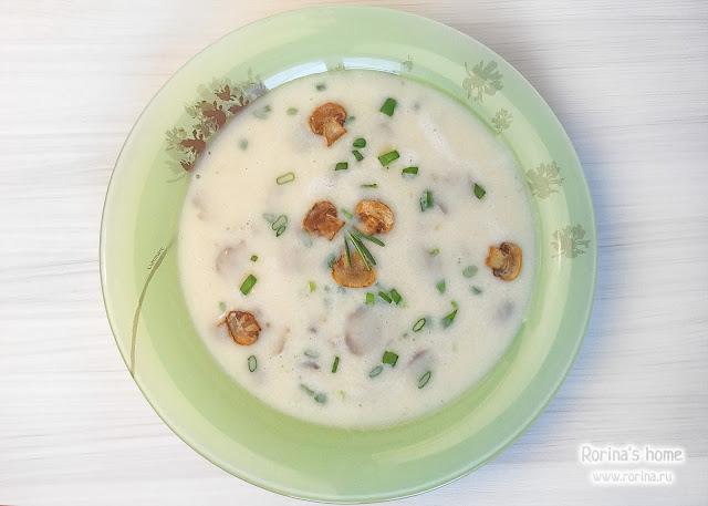 Крем-суп из шампиньонов: диетический рецепт