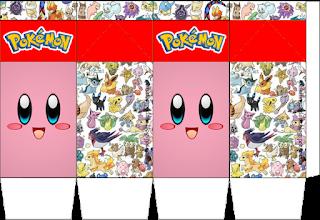 """Caja tipo """"de leche"""" de Pokémon."""