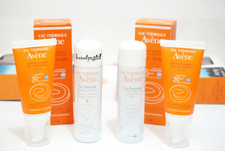 EAU THERMALE AVENE SPRING WATER AND SUNSCREENS