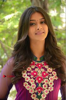 Actress Pooja Jhaveri Latest Stills in Purple Salwar Kameezt at Dwaraka Success Meet  0025.JPG