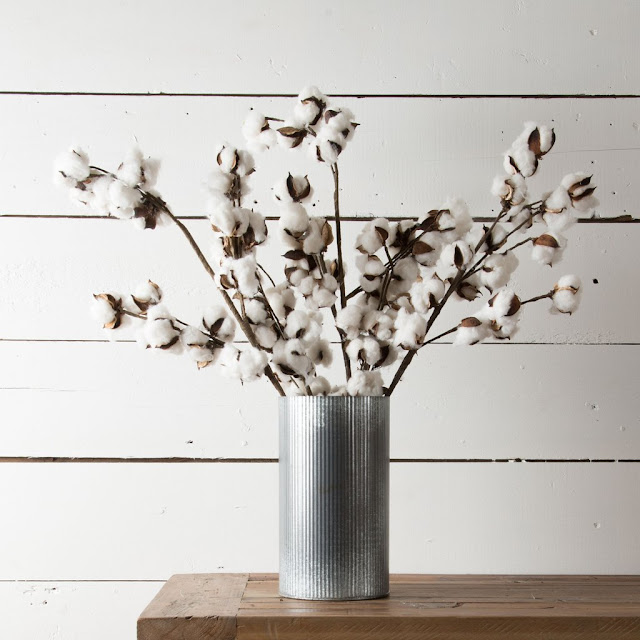 Faux cotton stems