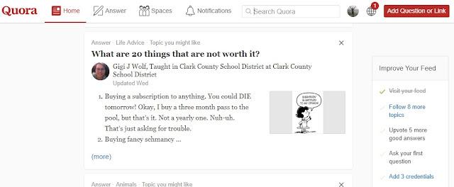 Mencari Ide Menulis Di Quora - Ternyata Banyak Stoknya